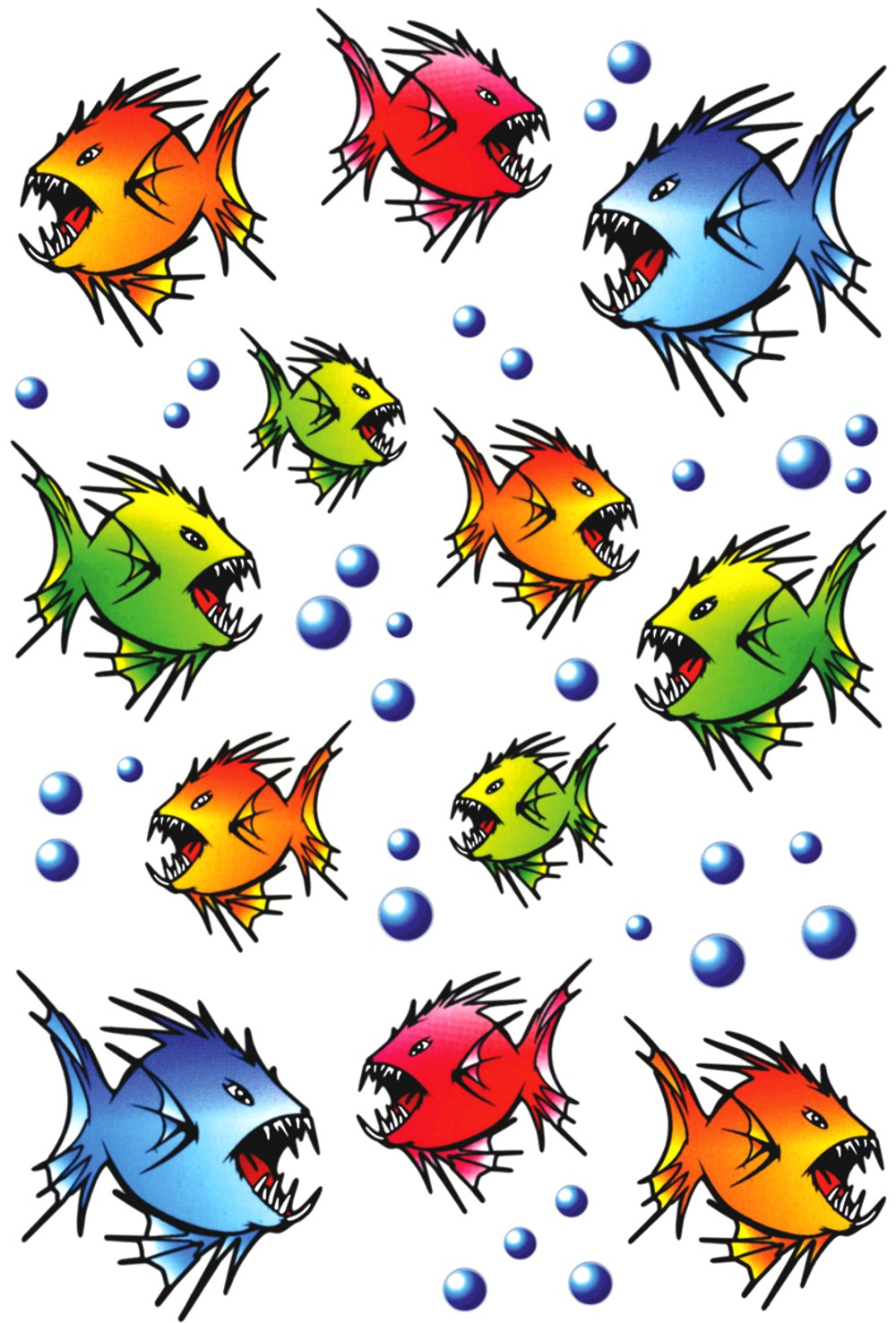Sticker piranhas 300 x 200 mm multicolored – Bild 1