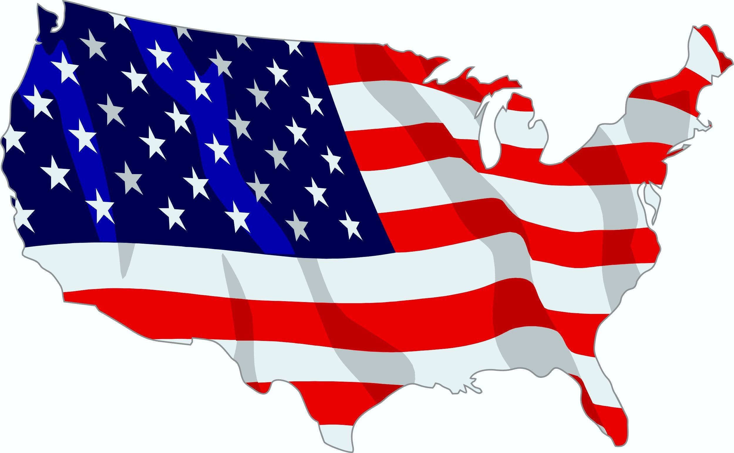 Aufkleber USA Landkontur Dimension 50 x 70 mm