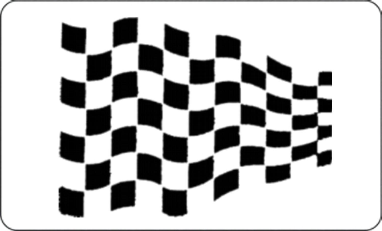 Car-Tattoo Rennsportflagge schwarz 2 tlg. je 215 x 300 mm – Bild 1