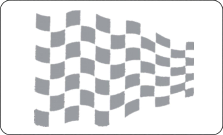 Car-Tattoo racing flag silver 2 pcs. each 215 x 300 mm – Bild 1