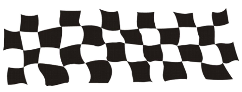 Car-Tattoo Rennsportflagge schwarz 6 tlg. je 220 x 420 mm – Bild 1