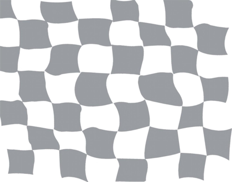 Aufkleber Rennsportflagge silber/transparent 350 x 400 mm – Bild 1