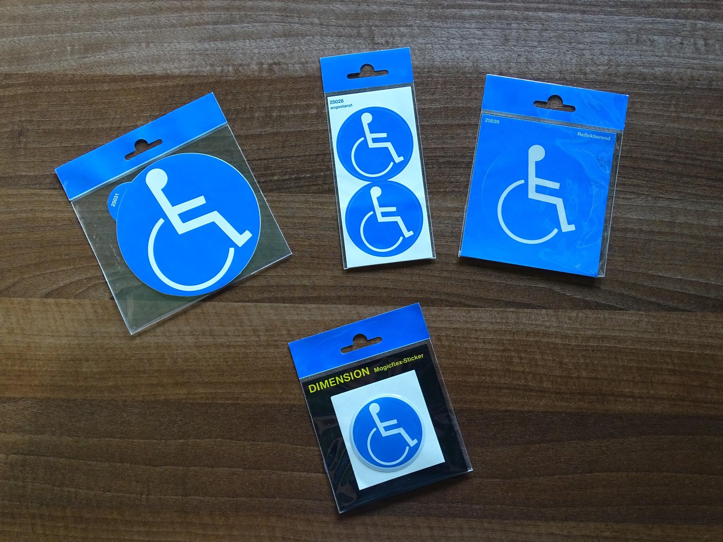 Aufkleber Behindertensymbol Dimension 60 x 60 mm – Bild 2