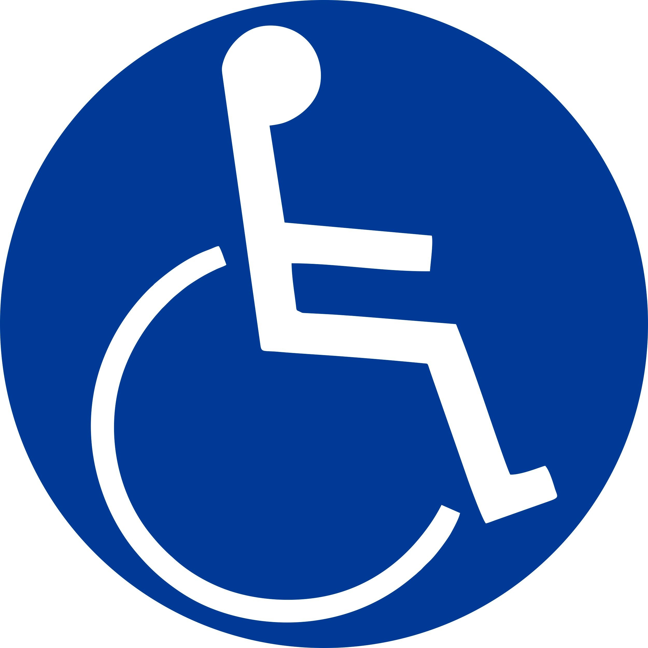 Sticker handicapped symbol dimension 60 x 60 mm