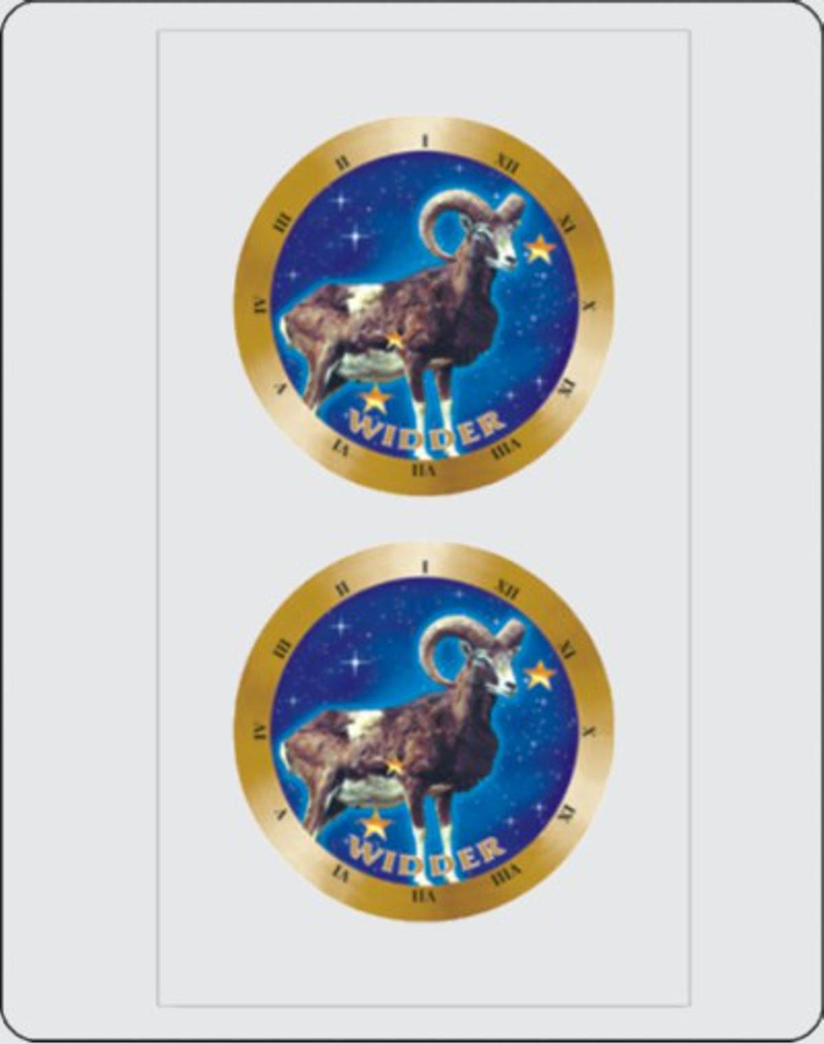 Autocollant signe du zodiaque Bélier dimension set de 2 chaque Ø 40 mm – Bild 1