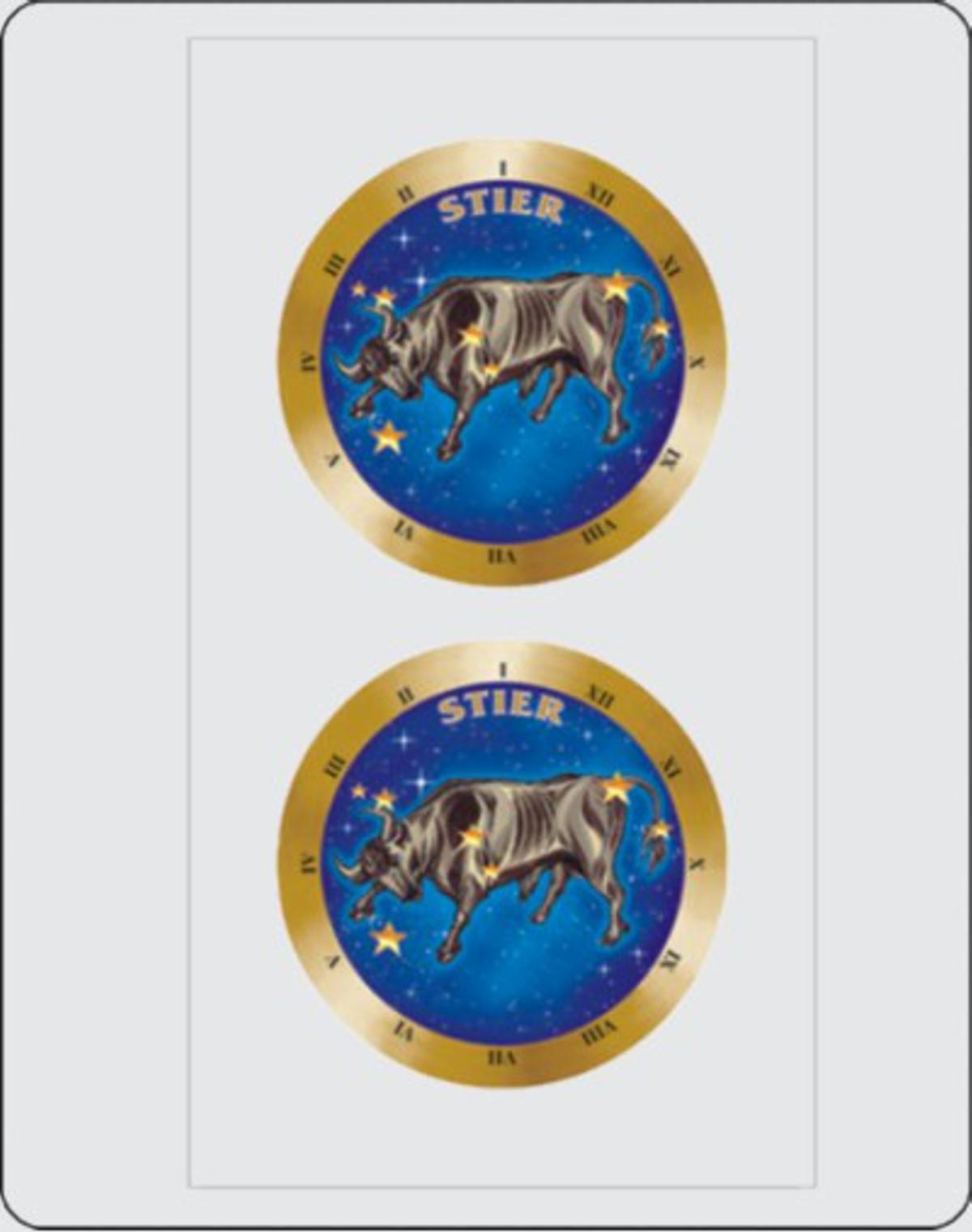 Aufkleber Sternkreiszeichen Stier Dimension 2er-Set je Ø 40 mm – Bild 1