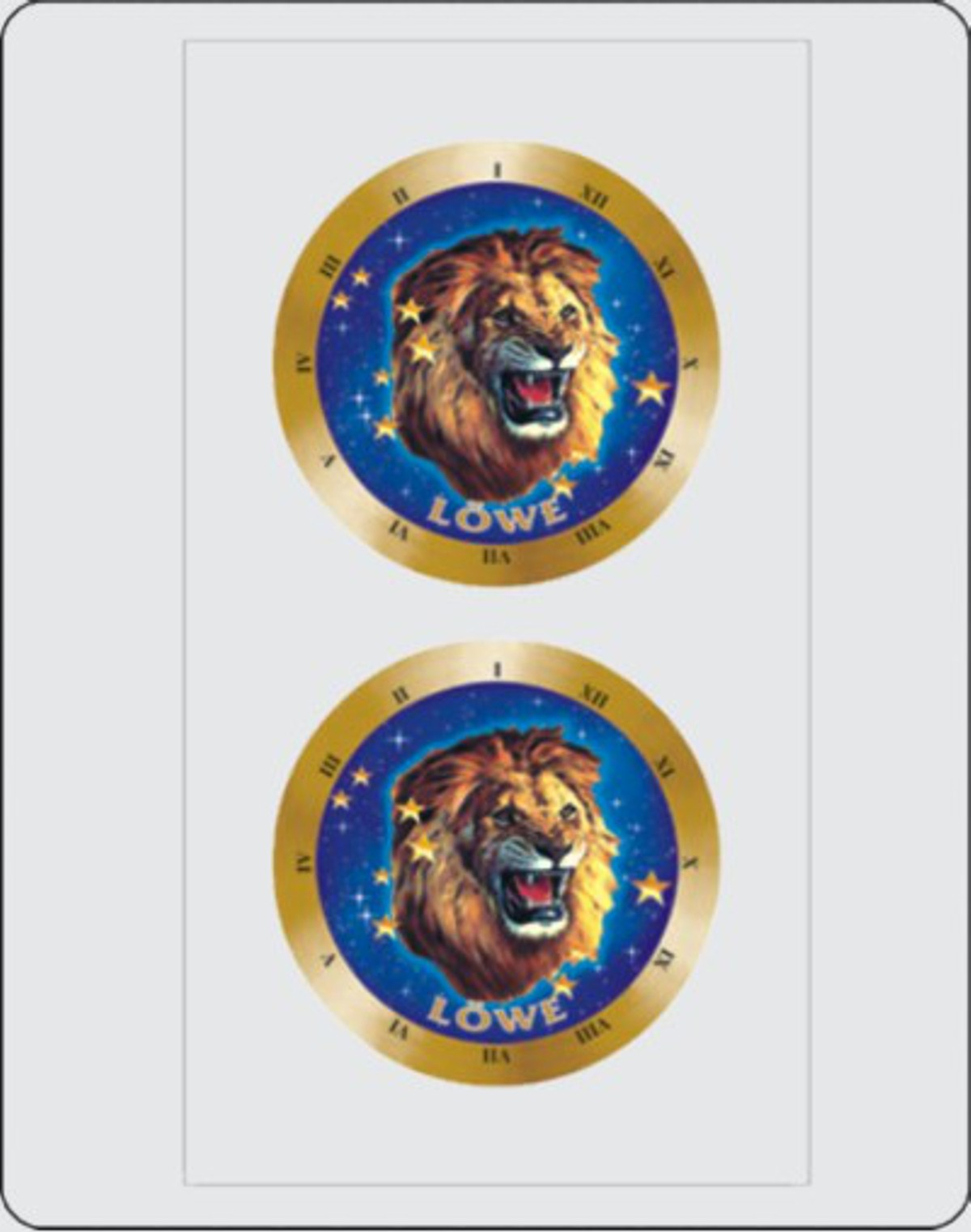 Aufkleber Sternkreiszeichen Löwe Dimension 2er-Set je Ø 40 mm – Bild 1