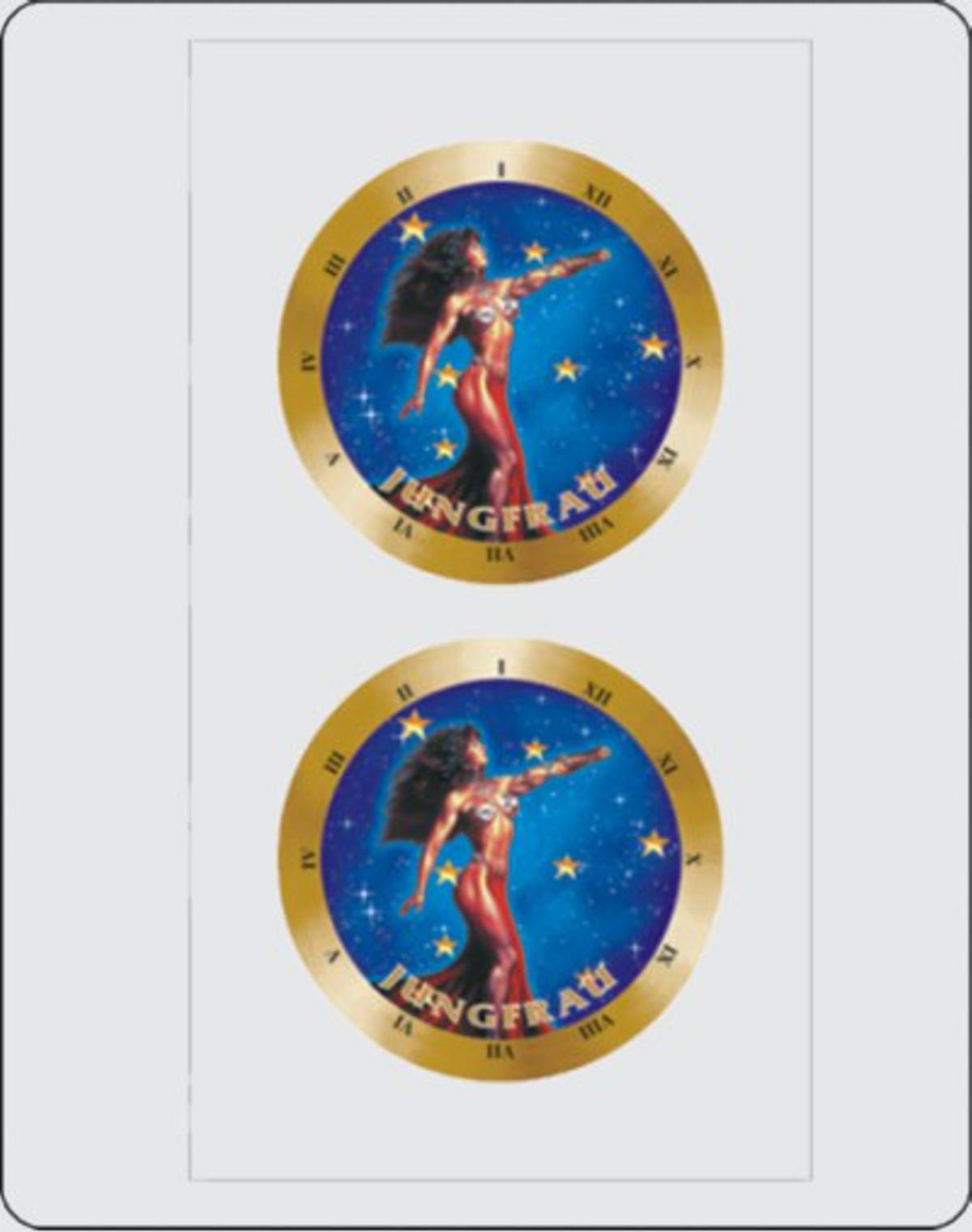 Sticker star sign Virgo dimension set of 2 each Ø 40 mm – Bild 1