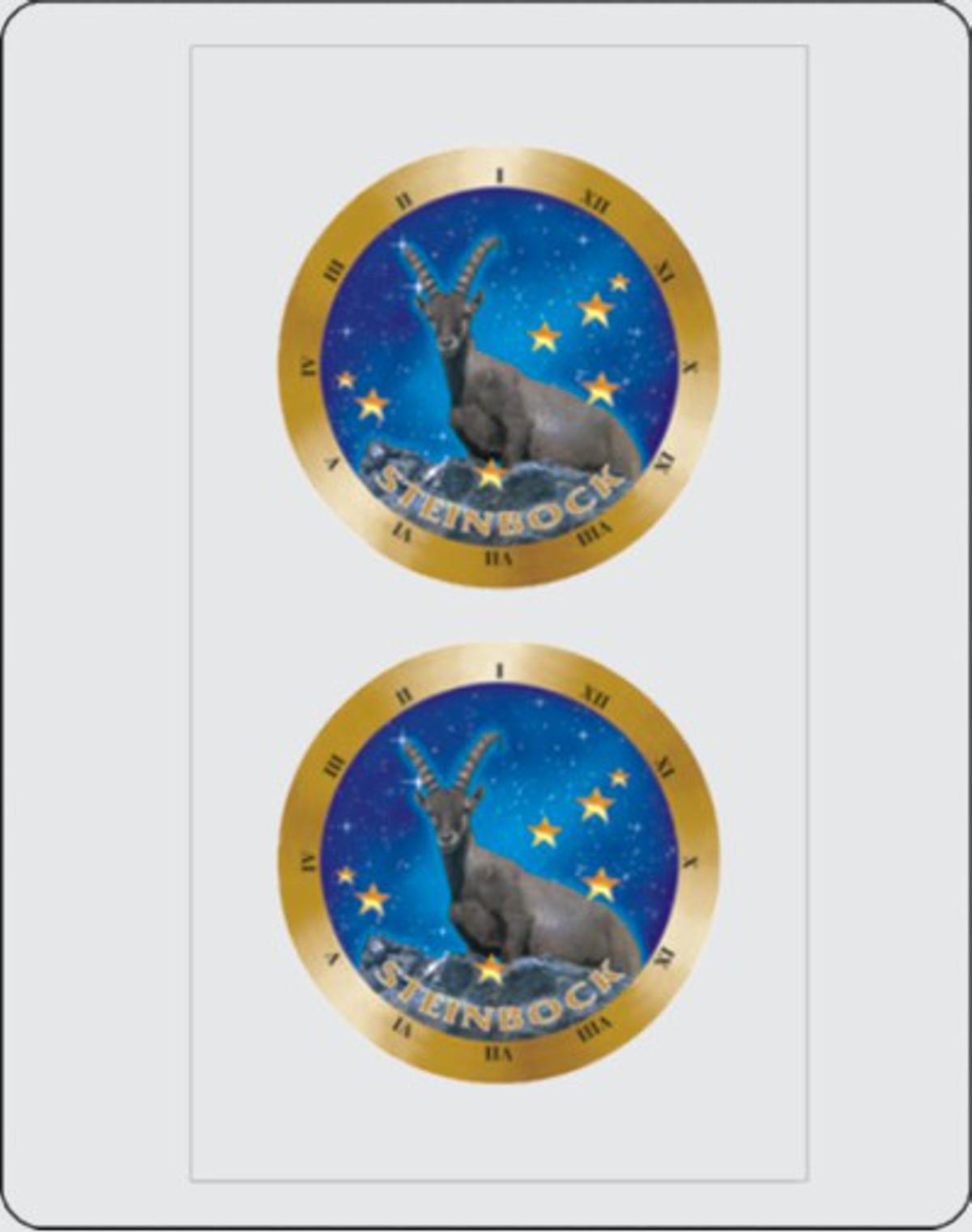 Autocollant signe du zodiaque Capricorne dimension set de 2 chaque Ø 40 mm – Bild 1