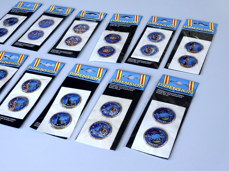 Autocollant signe du zodiaque Capricorne dimension set de 2 chaque Ø 40 mm – Bild 3
