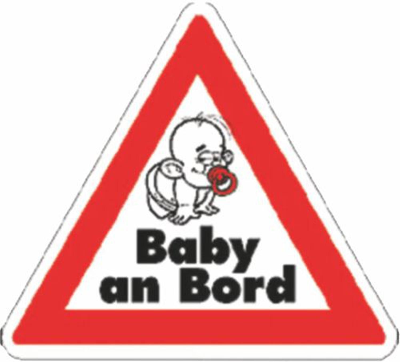 Autocollant Baby an Bord triangulaire dimension 60 x 70 mm – Bild 1