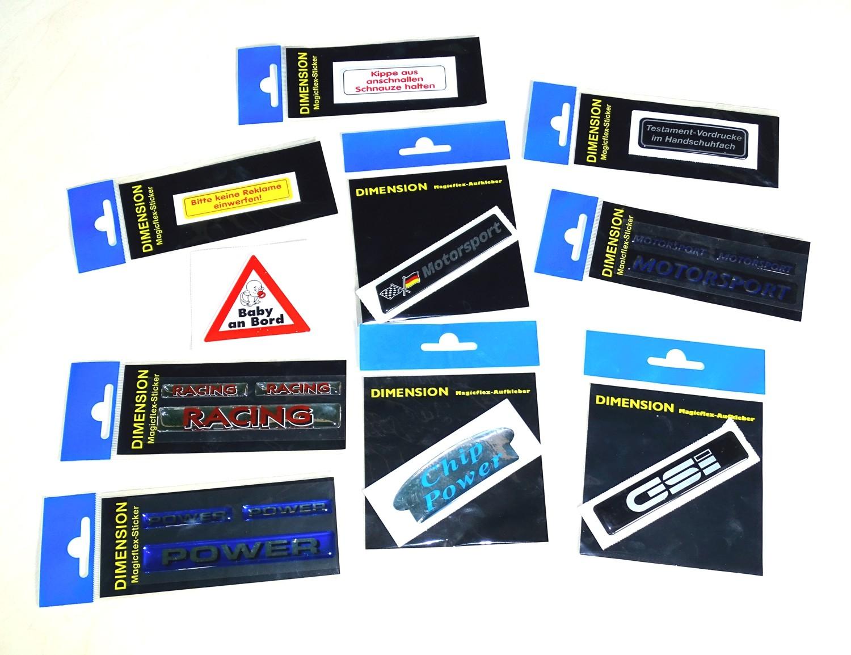 Sticker Motorsport dimension 20 x 100 mm – Bild 2