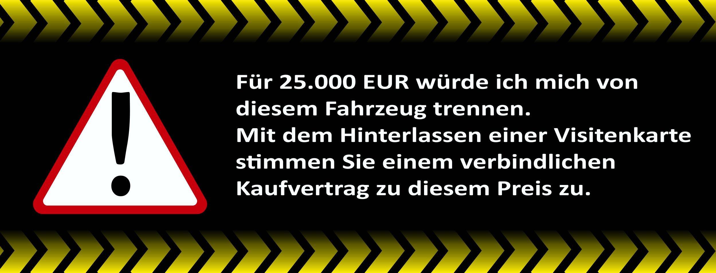 Aufkleber Für 25.000 EUR ... schwarz 105 x 45 mm – Bild 1