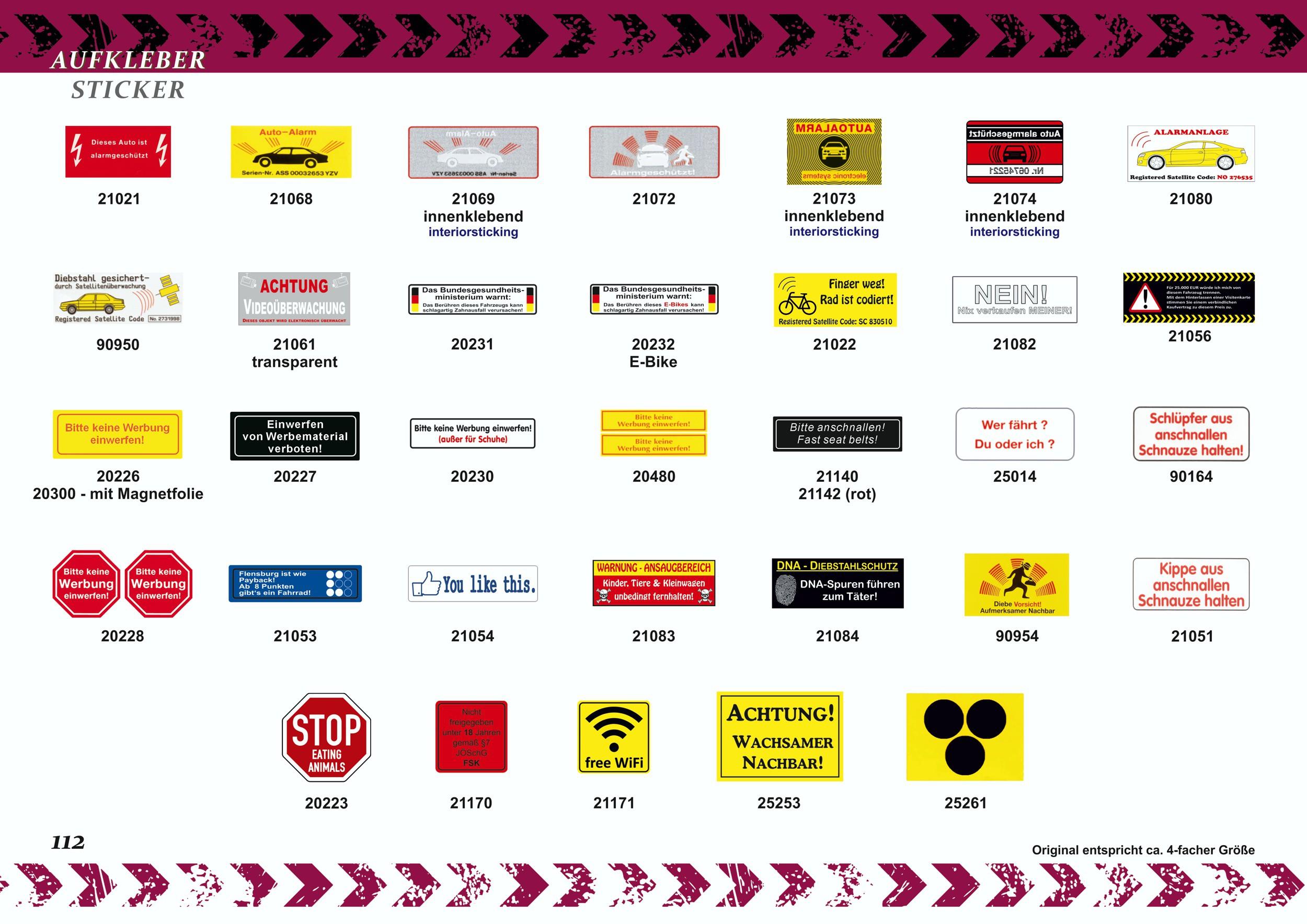 Autocollant Auto-Alarm- electronic systemsadhérent à l'intérieur 75 x 50 mm – Bild 5