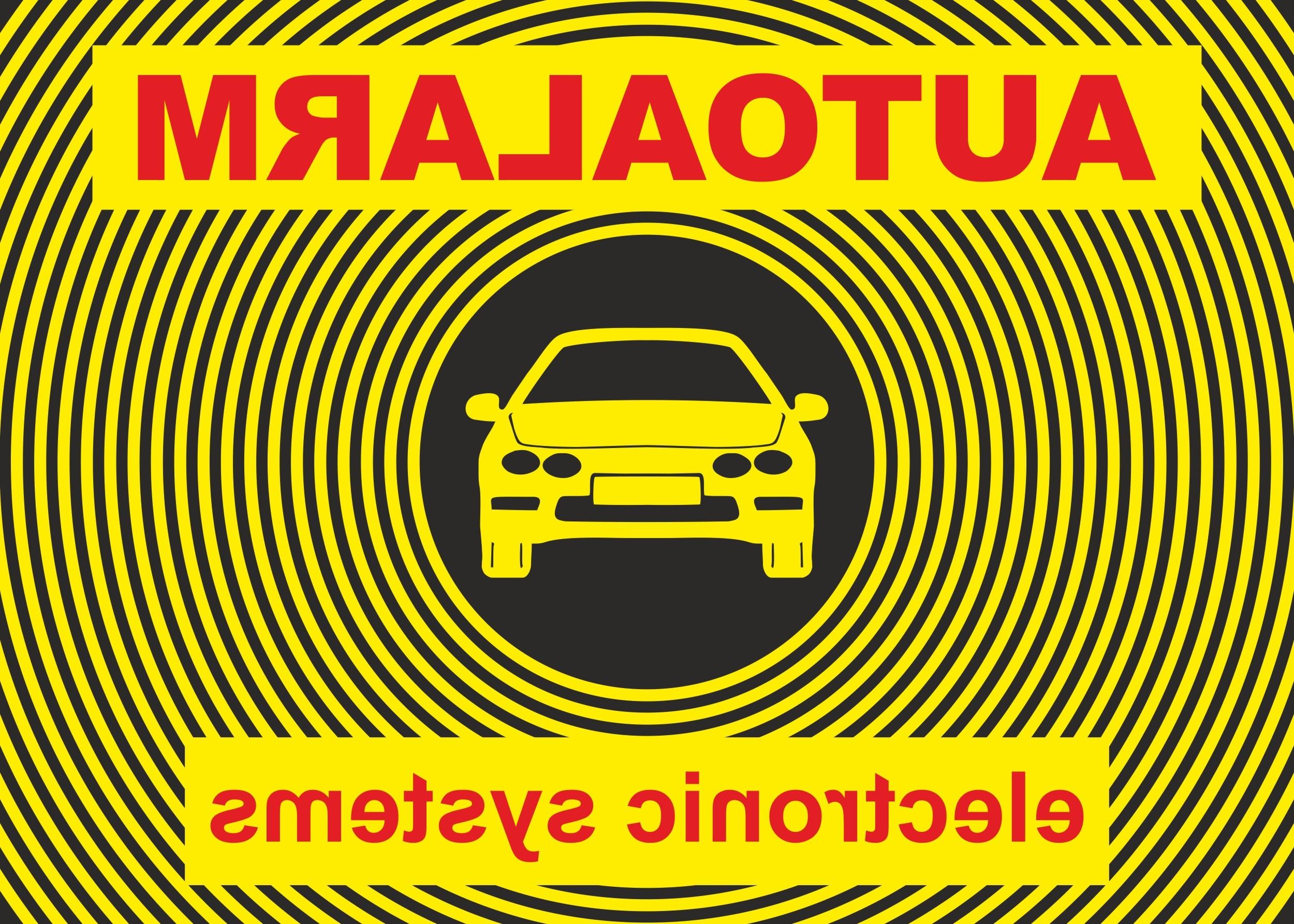 Autocollant Auto-Alarm- electronic systemsadhérent à l'intérieur 75 x 50 mm – Bild 1