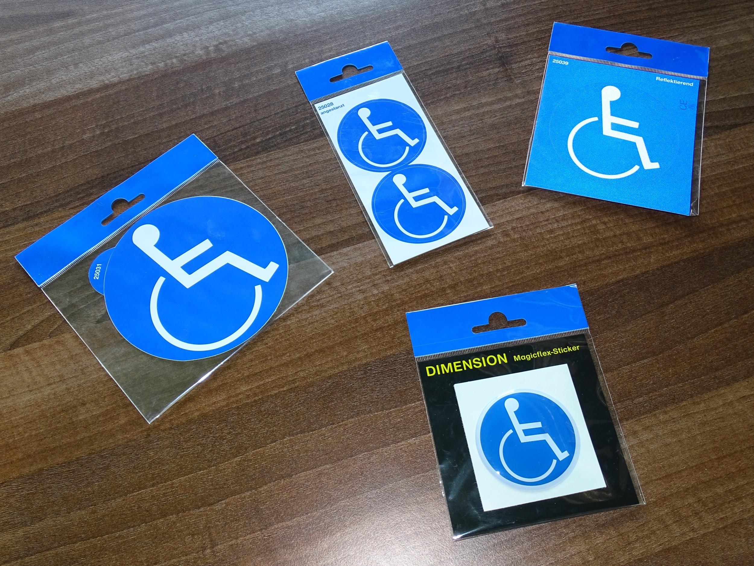 Aufkleber Behinderten-Symbol reflektierend blau – Bild 4