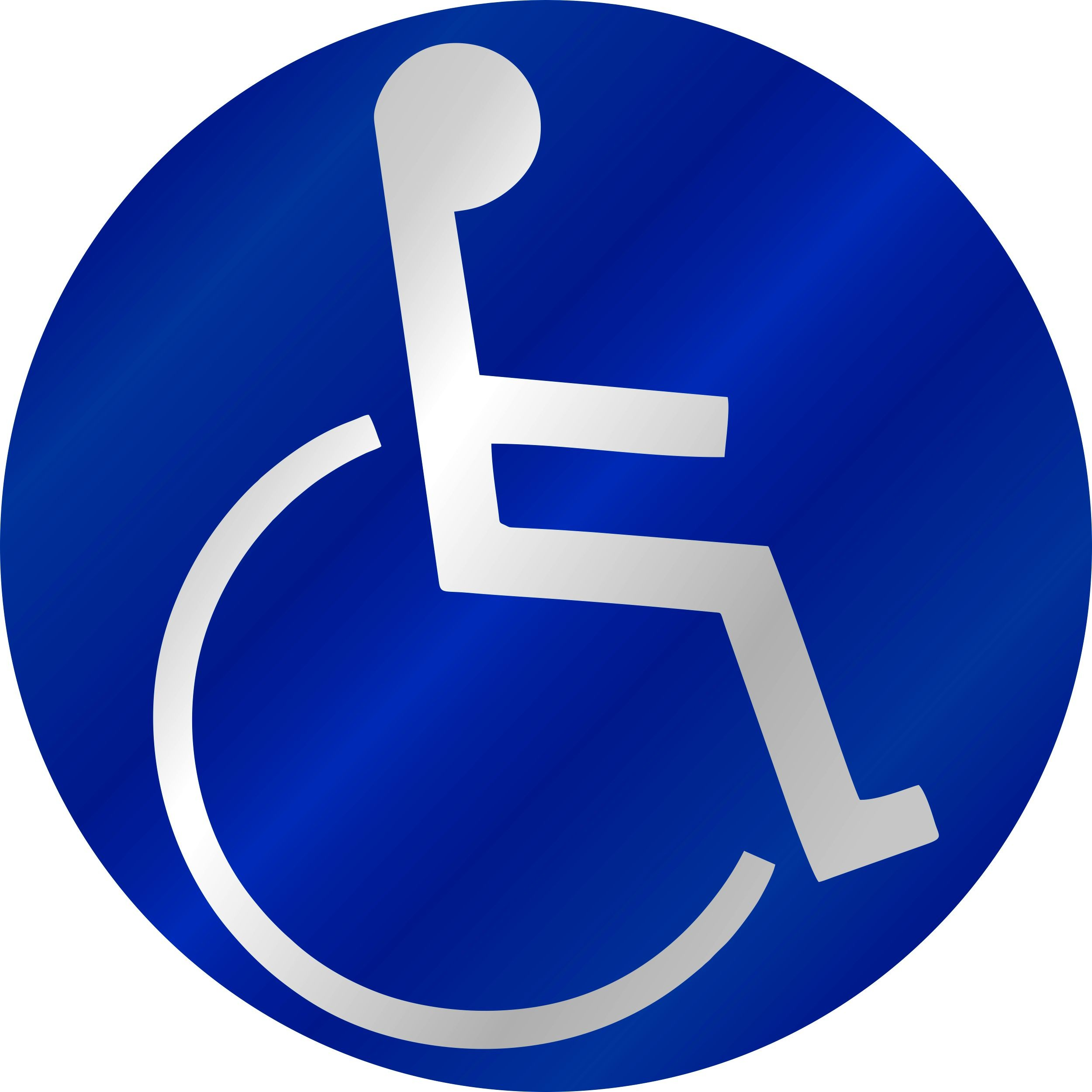 Aufkleber Behinderten-Symbol reflektierend blau – Bild 1