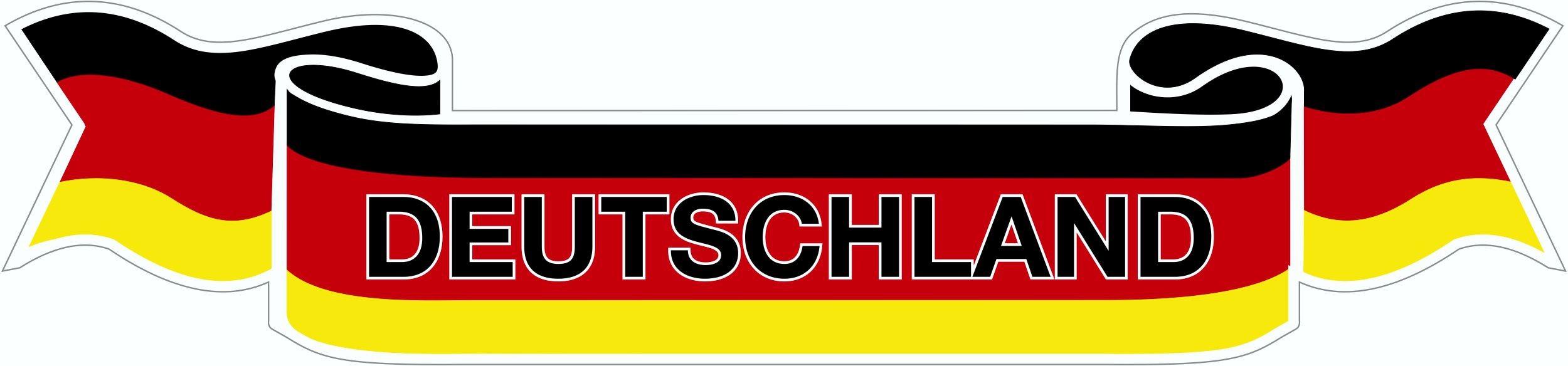 Aufkleber Flagge Deutschland 100 x 430 mm Deutschland Fanartikel Olympia – Bild 1