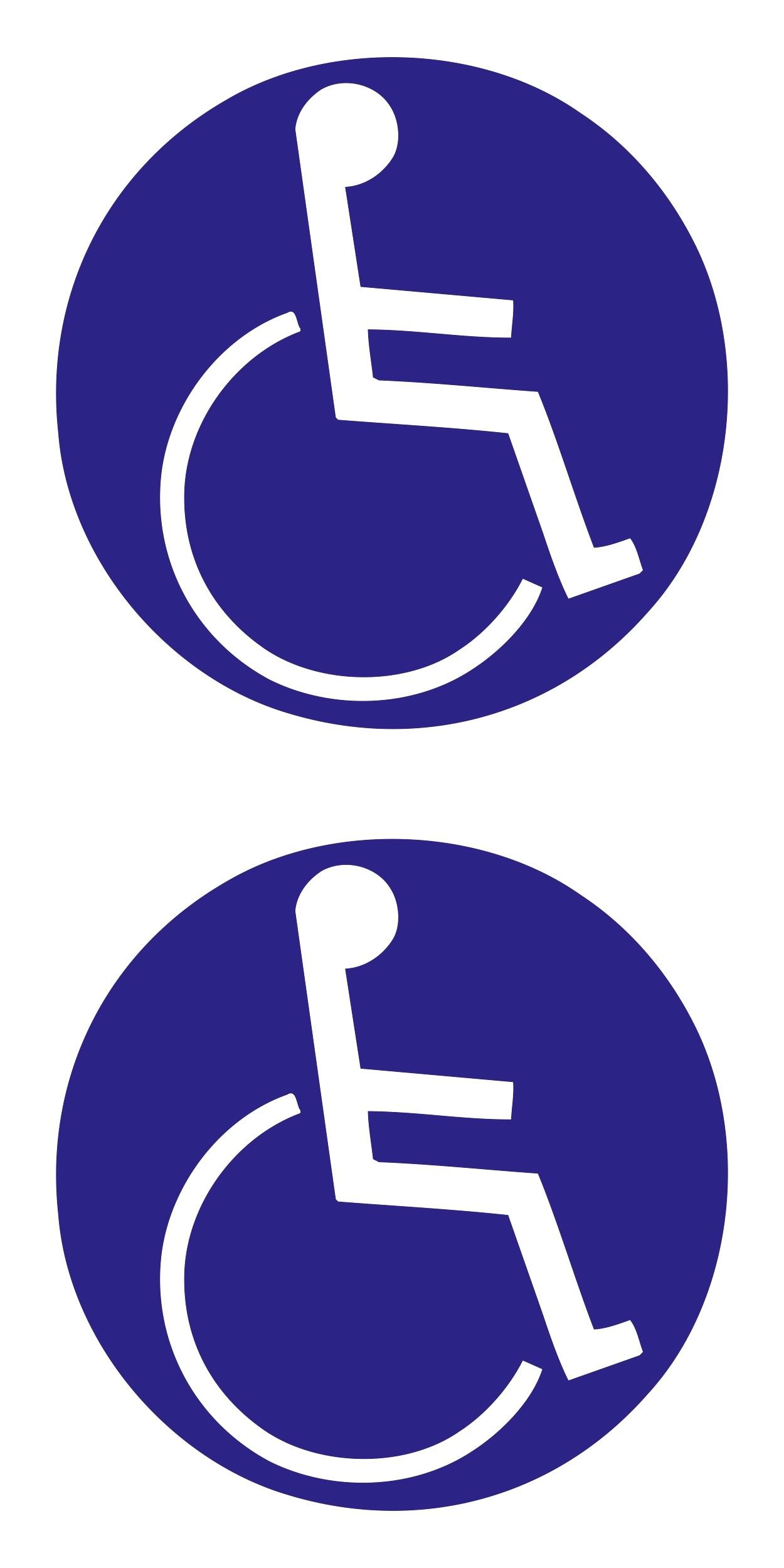 Aufkleber Behinderten-Symbol 2er-Set blau – Bild 1