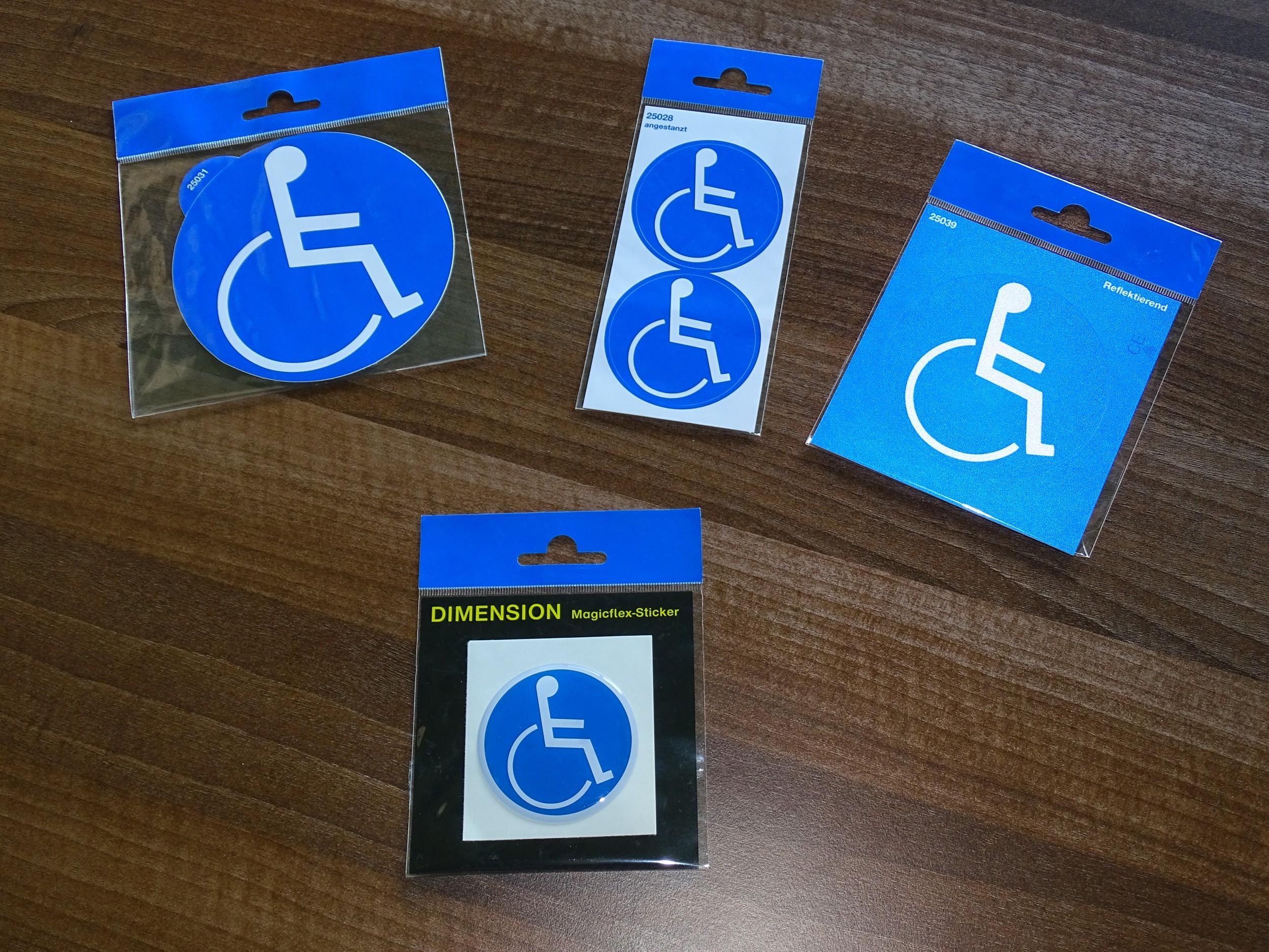 Aufkleber Behinderten Symbol Blau Schneller Versand
