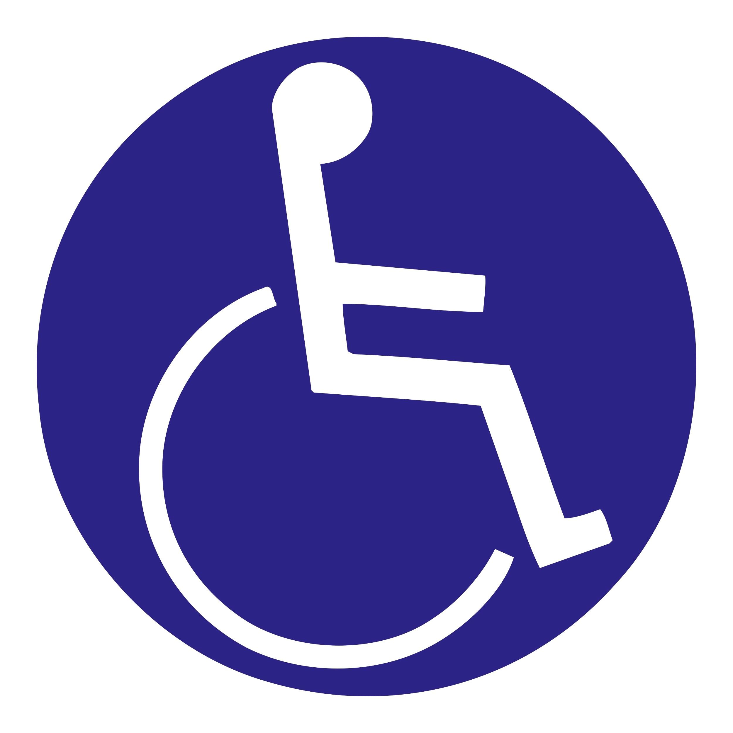 Aufkleber Behinderten-Symbol blau – Bild 1