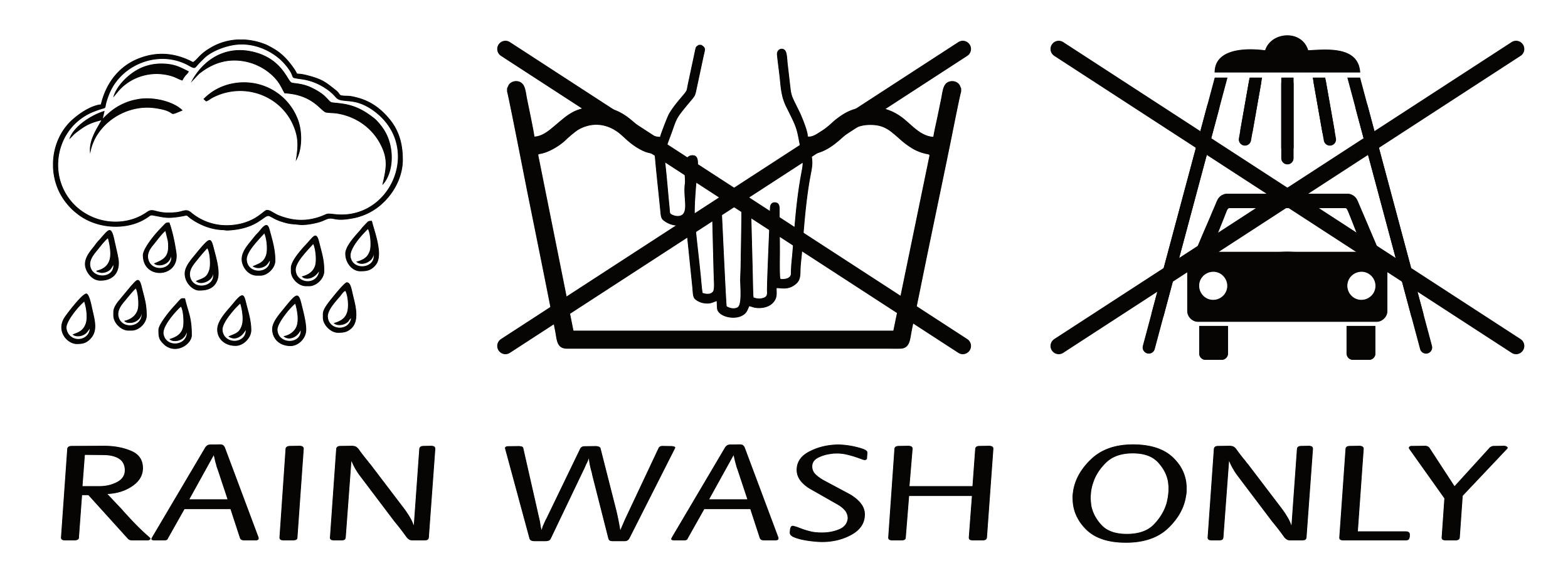 Aufkleber Rain Wash Only 190 x 70 mm – Bild 1