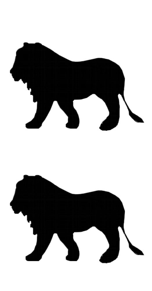 Sticker Outline Lions 2 pcs – Bild 1