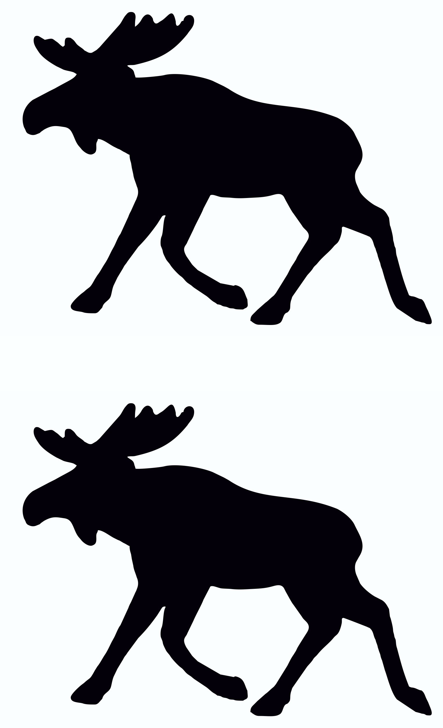 Sticker Outline Moose 2 pcs – Bild 1