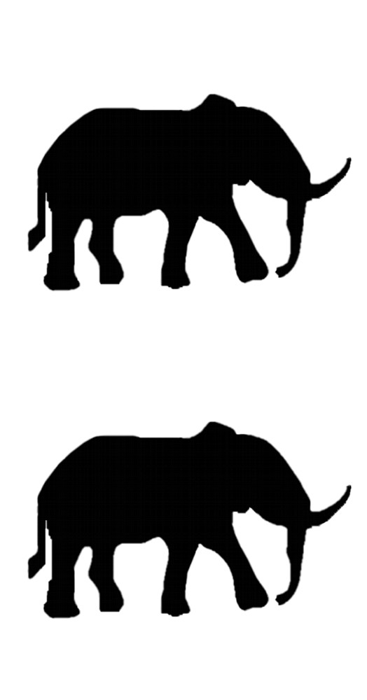 Sticker Outline Elephants 2 pcs – Bild 1