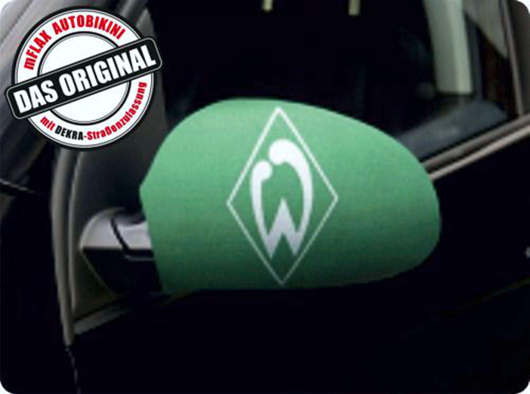 Außenspiegelflagge CarBikini 2er-Set Bundesliga SV Werder Bremen – Bild 1