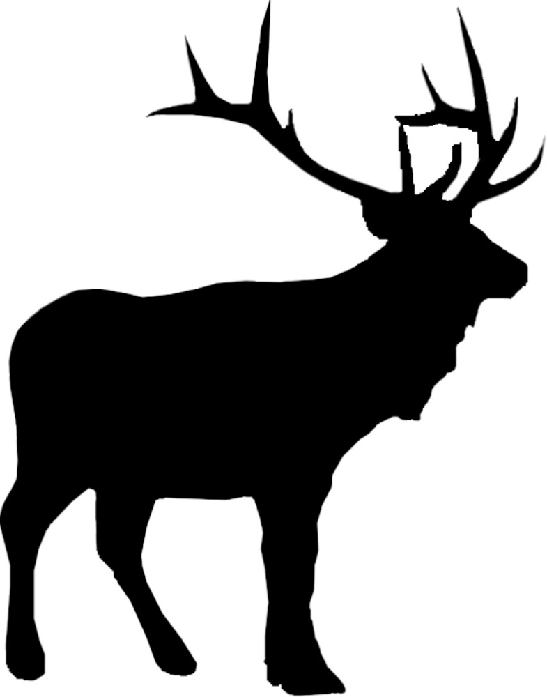 Sticker Outline Red Deer – Bild 1
