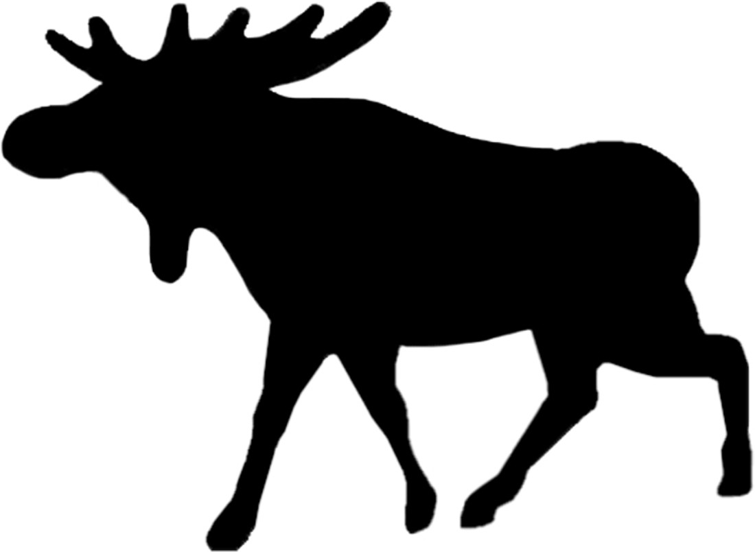 Sticker Outline Moose – Bild 1