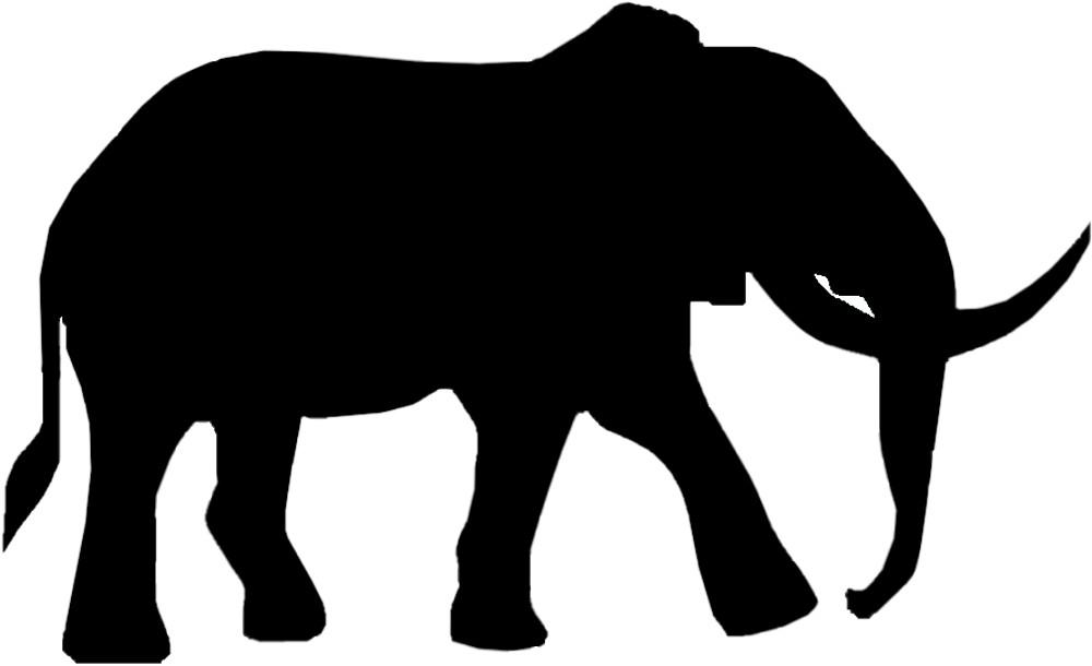 Aufkleber Kontur Elefant