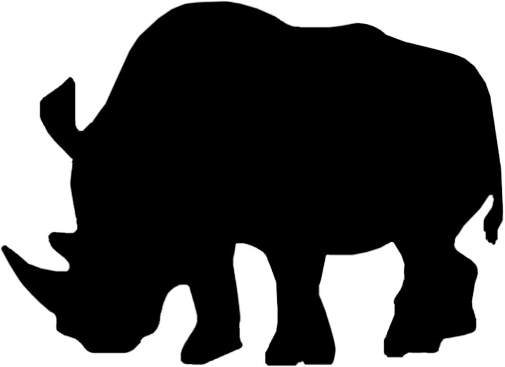 Aufkleber Kontur Nashorn