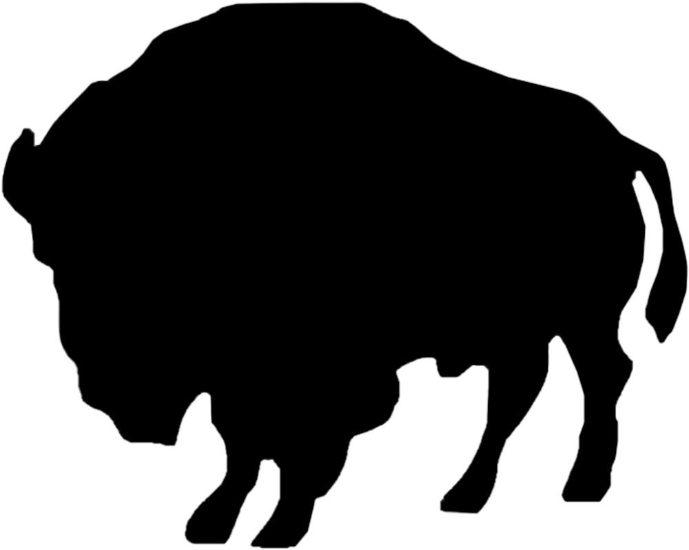 Aufkleber Kontur Büffel