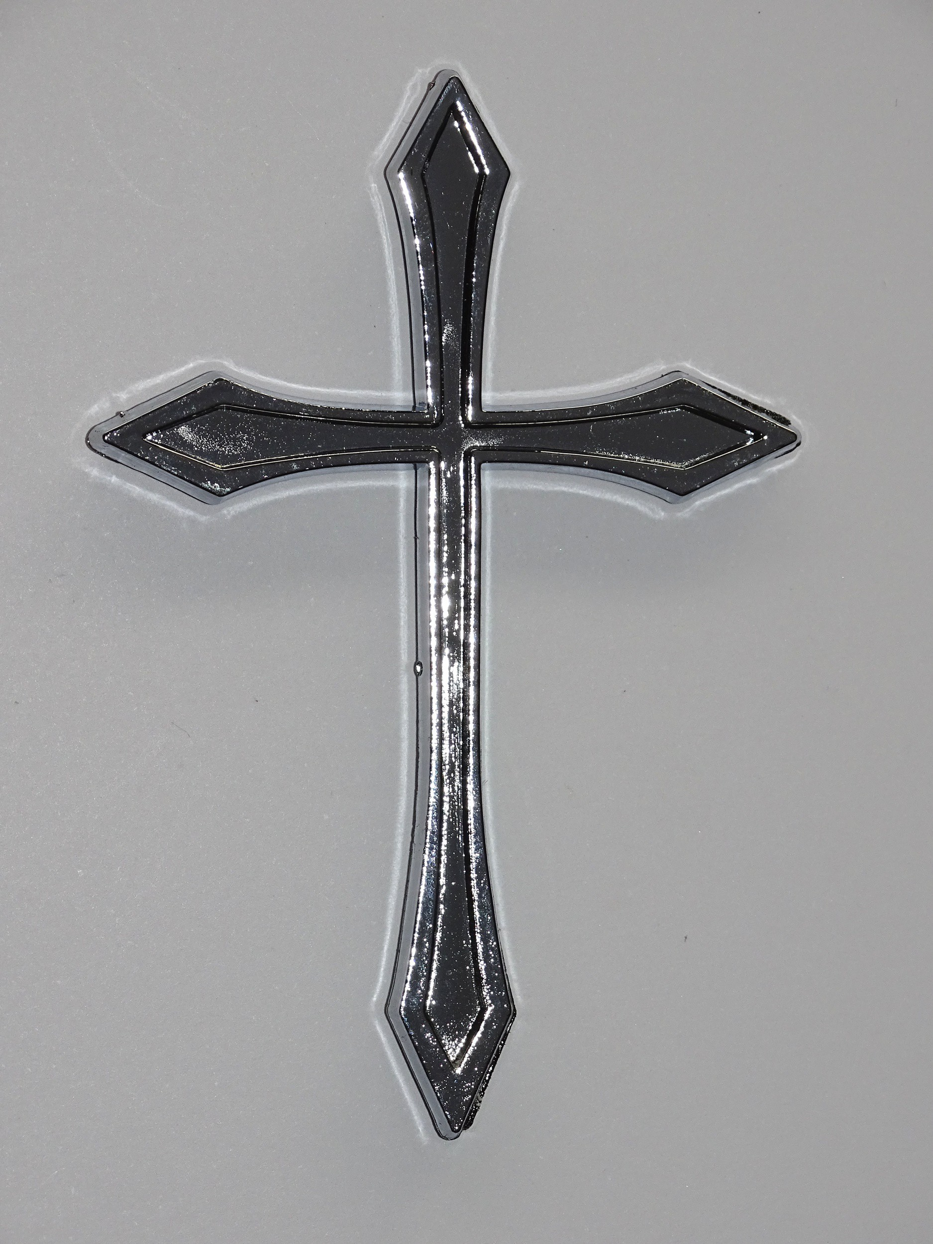 Relief-Chrome-Tattoo Kreuz – Bild 2