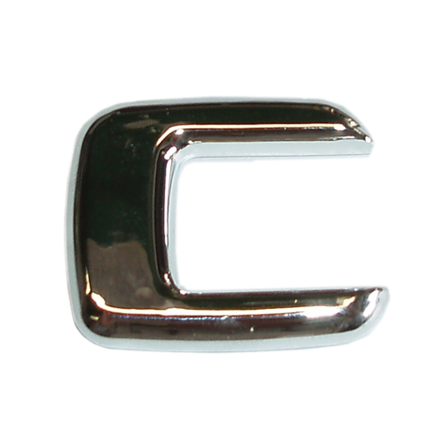 3D lettre en relief chrome C