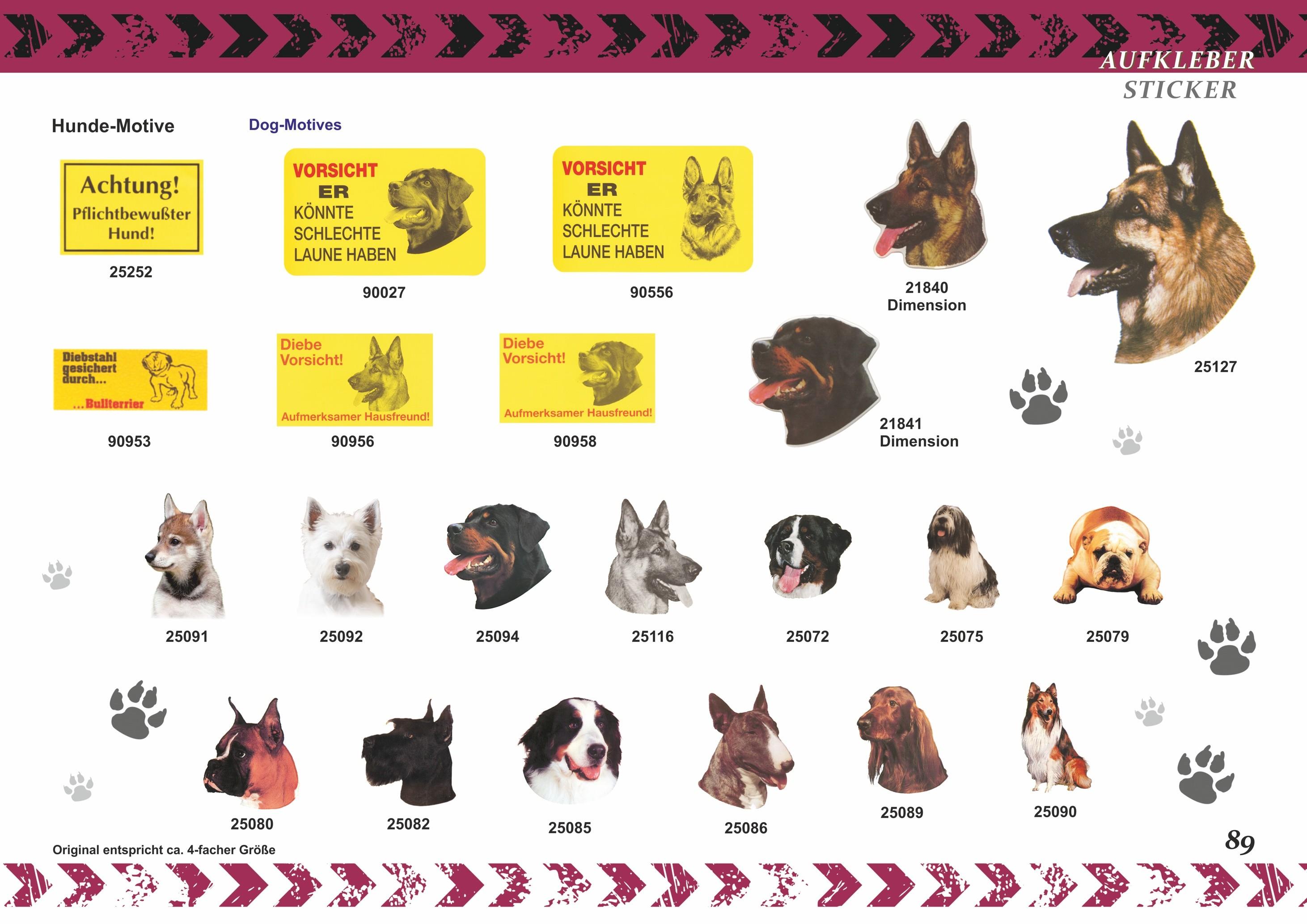 Aufkleber Hund Diebe Vorsicht! Aufmerksamer Hausfreund! – Bild 5