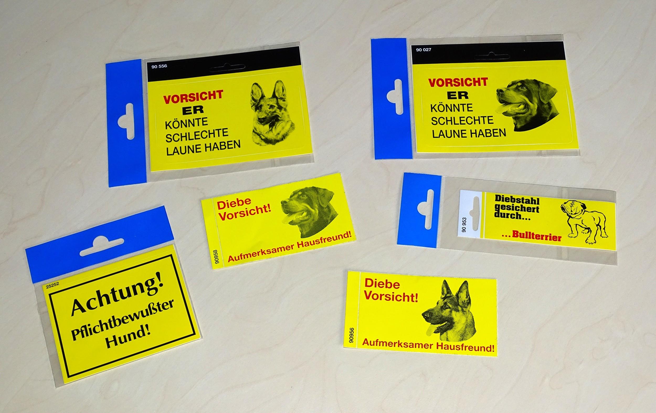 Aufkleber Hund Diebe Vorsicht! Aufmerksamer Hausfreund! – Bild 2