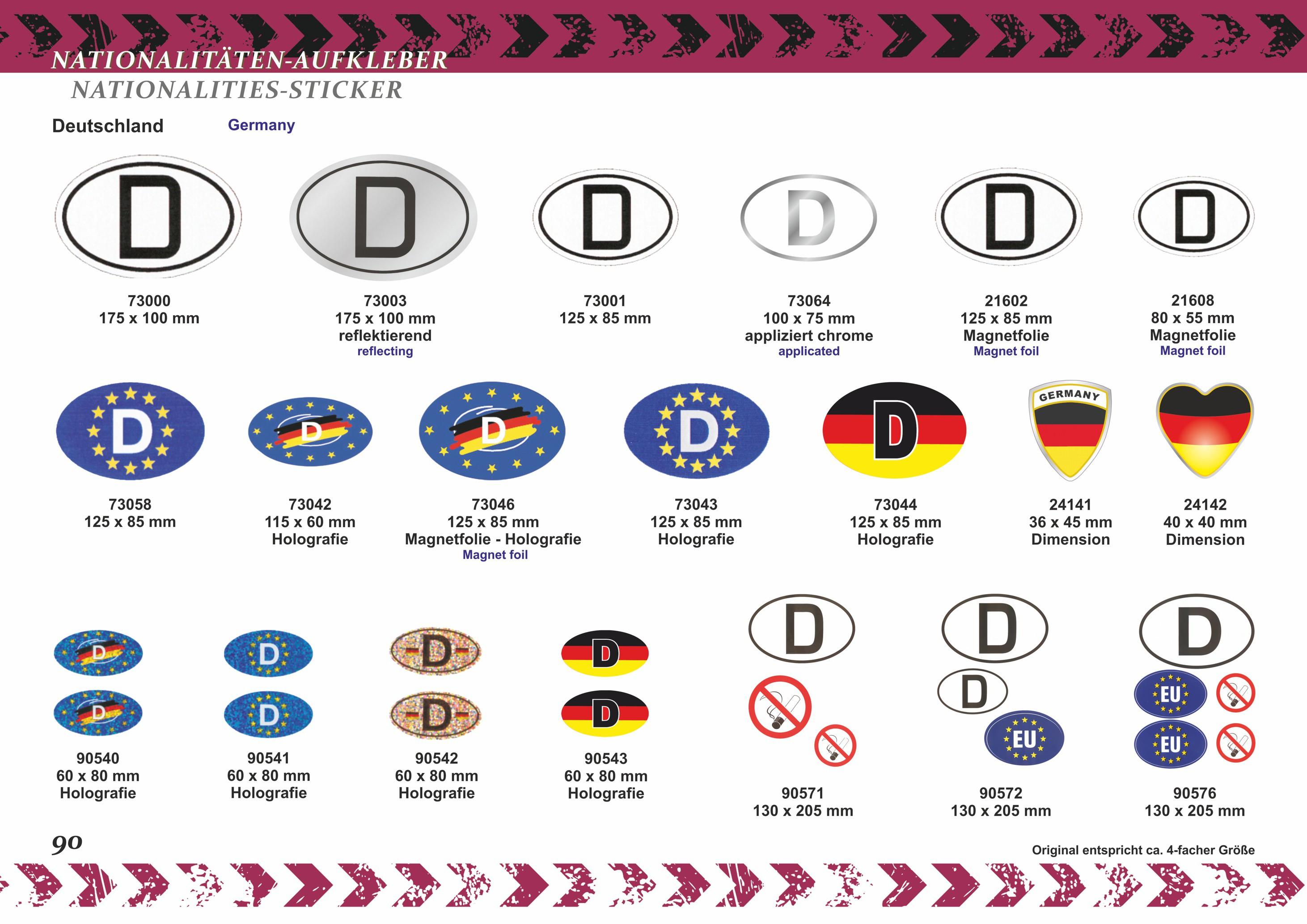 Aufkleber Europa-D 125 x 85 mm – Bild 4