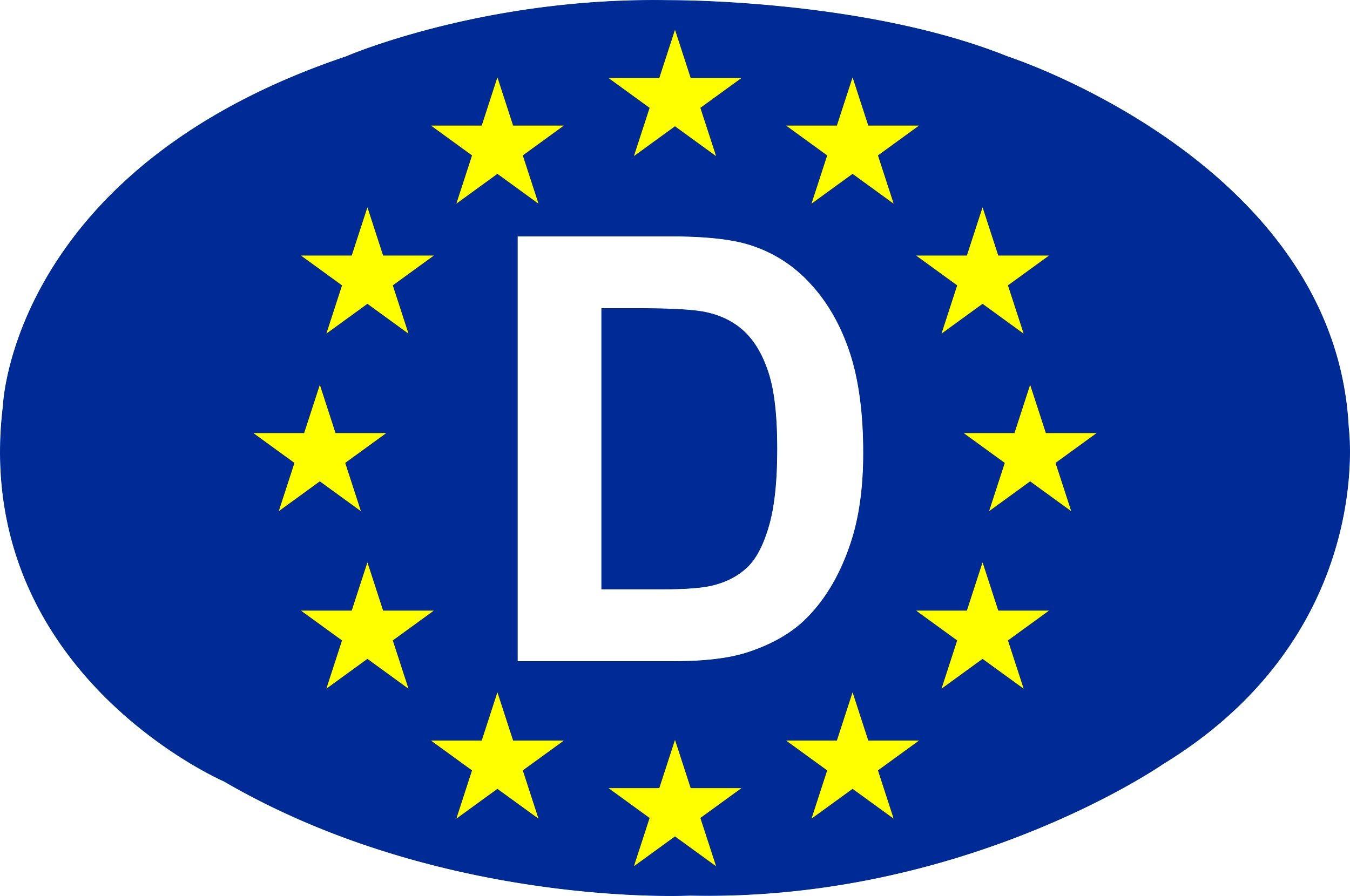 Aufkleber Europa-D 125 x 85 mm – Bild 1