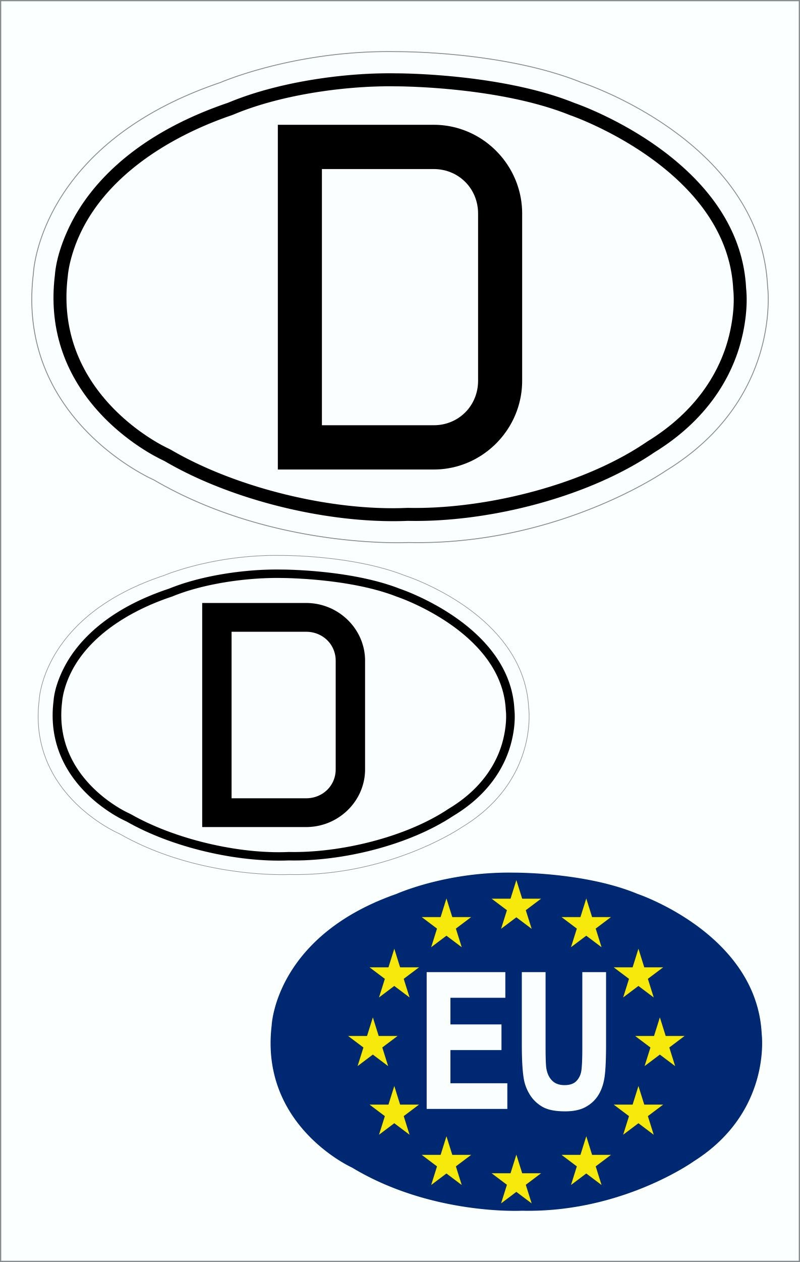 Aufkleber Deutschland und EU Deutschland Fanartikel Olympia – Bild 1