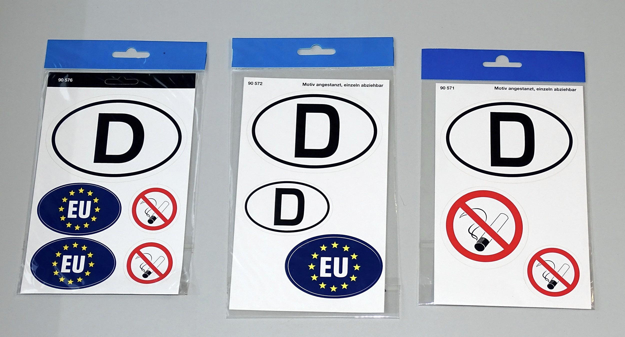 Aufkleber Deutschland EU und Rauchverbot  – Bild 2