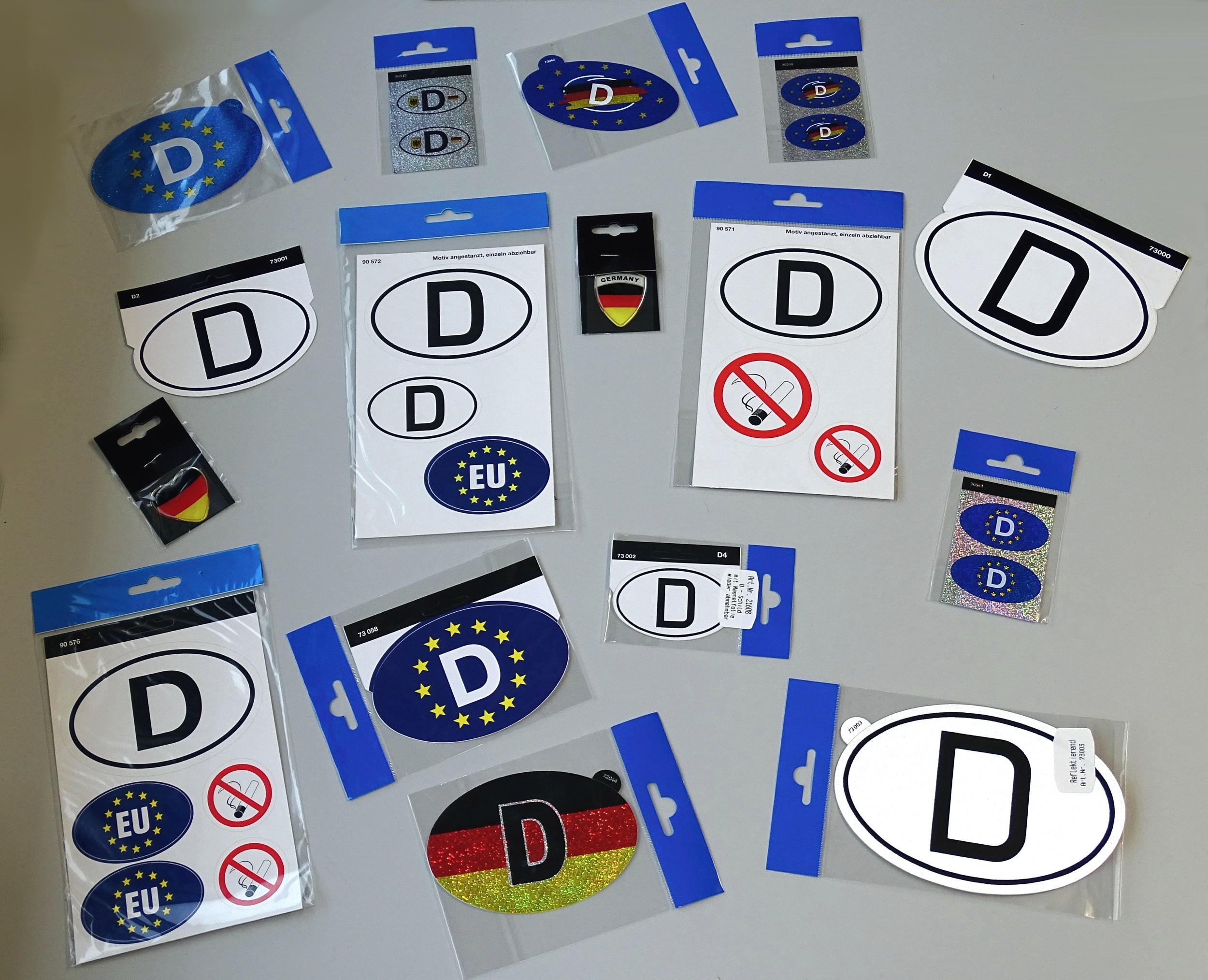 Aufkleber Deutschland EU und Rauchverbot  – Bild 3