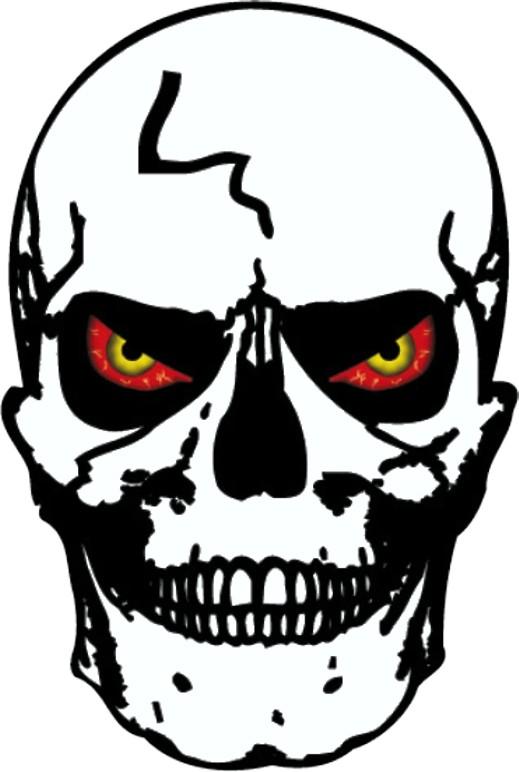 Sticker skull 100 x 105 mm