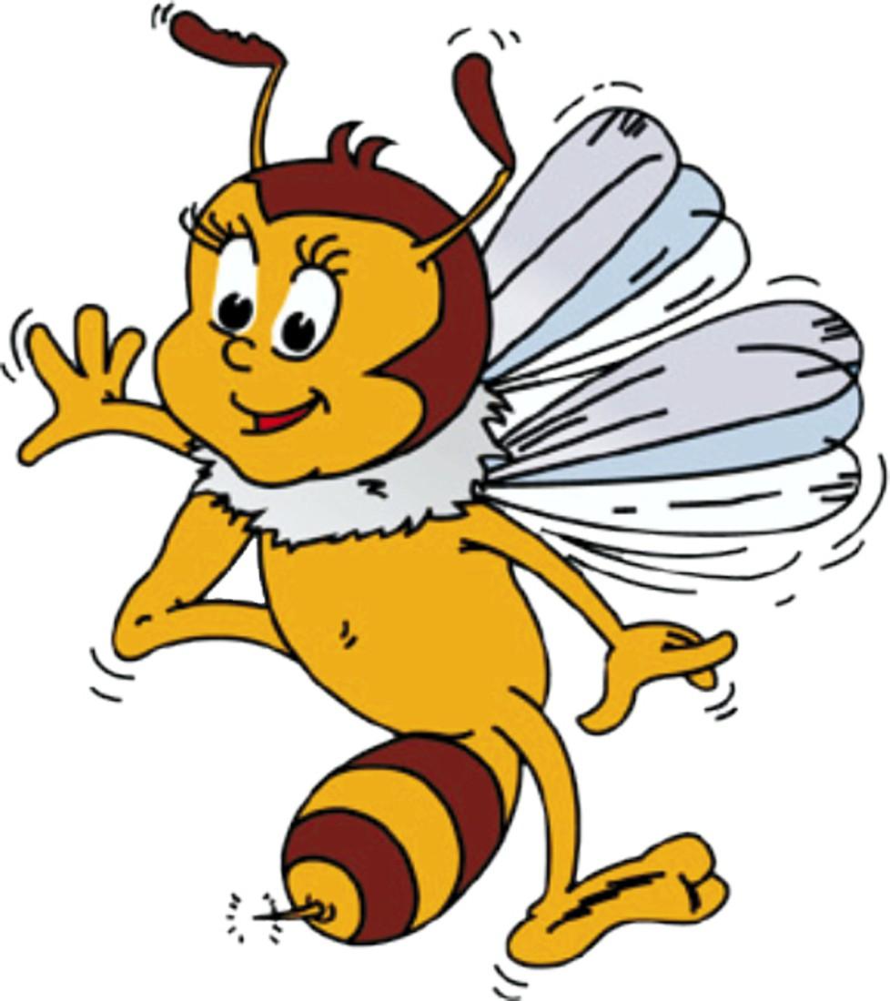 Aufkleber Biene 120 x 110 mm – Bild 1