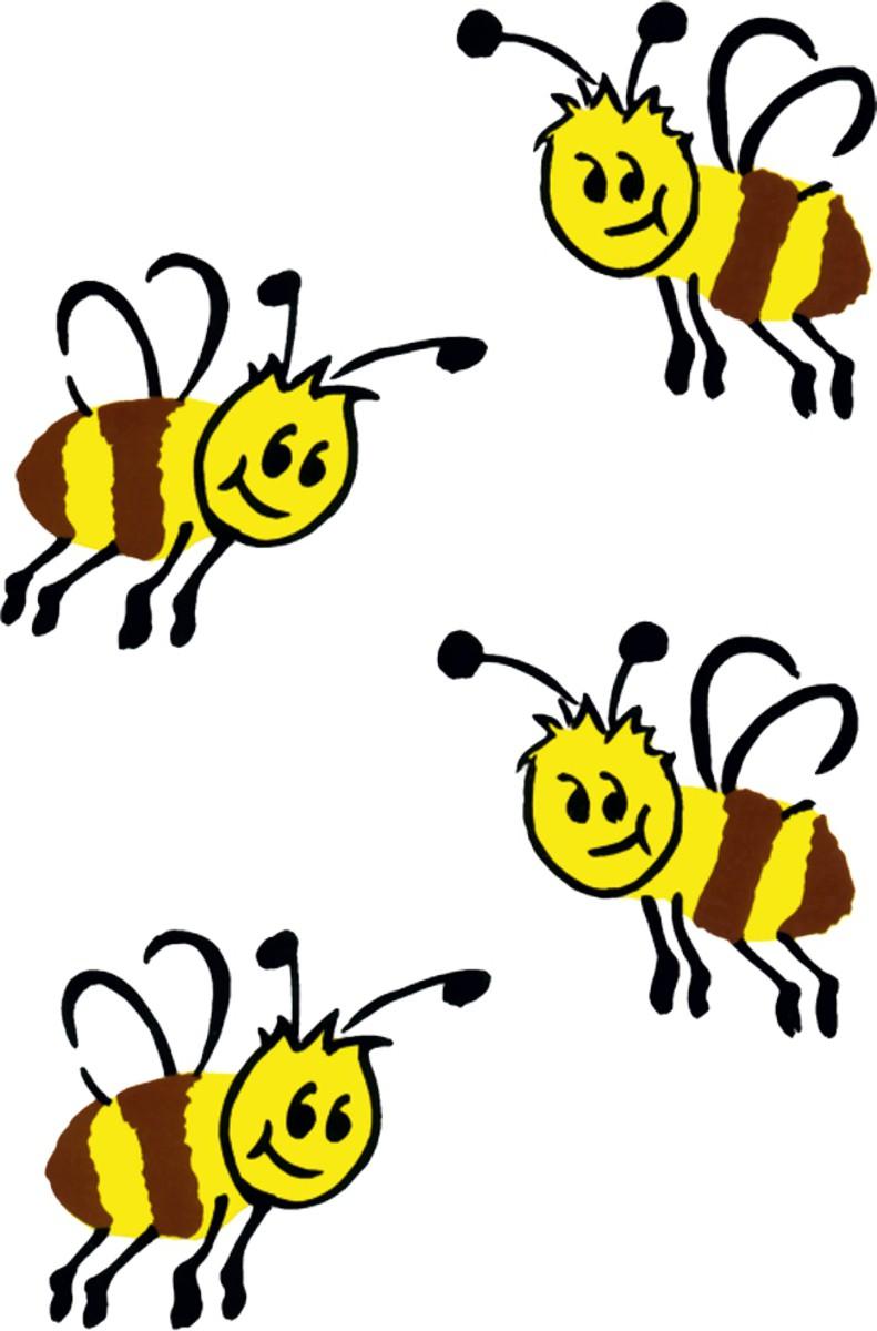 Aufkleber Bienen 170 x 105 mm – Bild 1