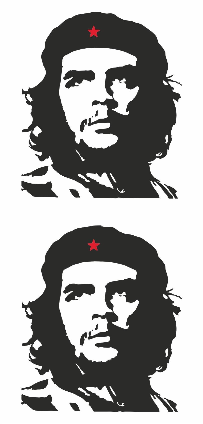 Aufkleber Che Guevara Kontur 2er-Set 145 x 70 mm – Bild 1