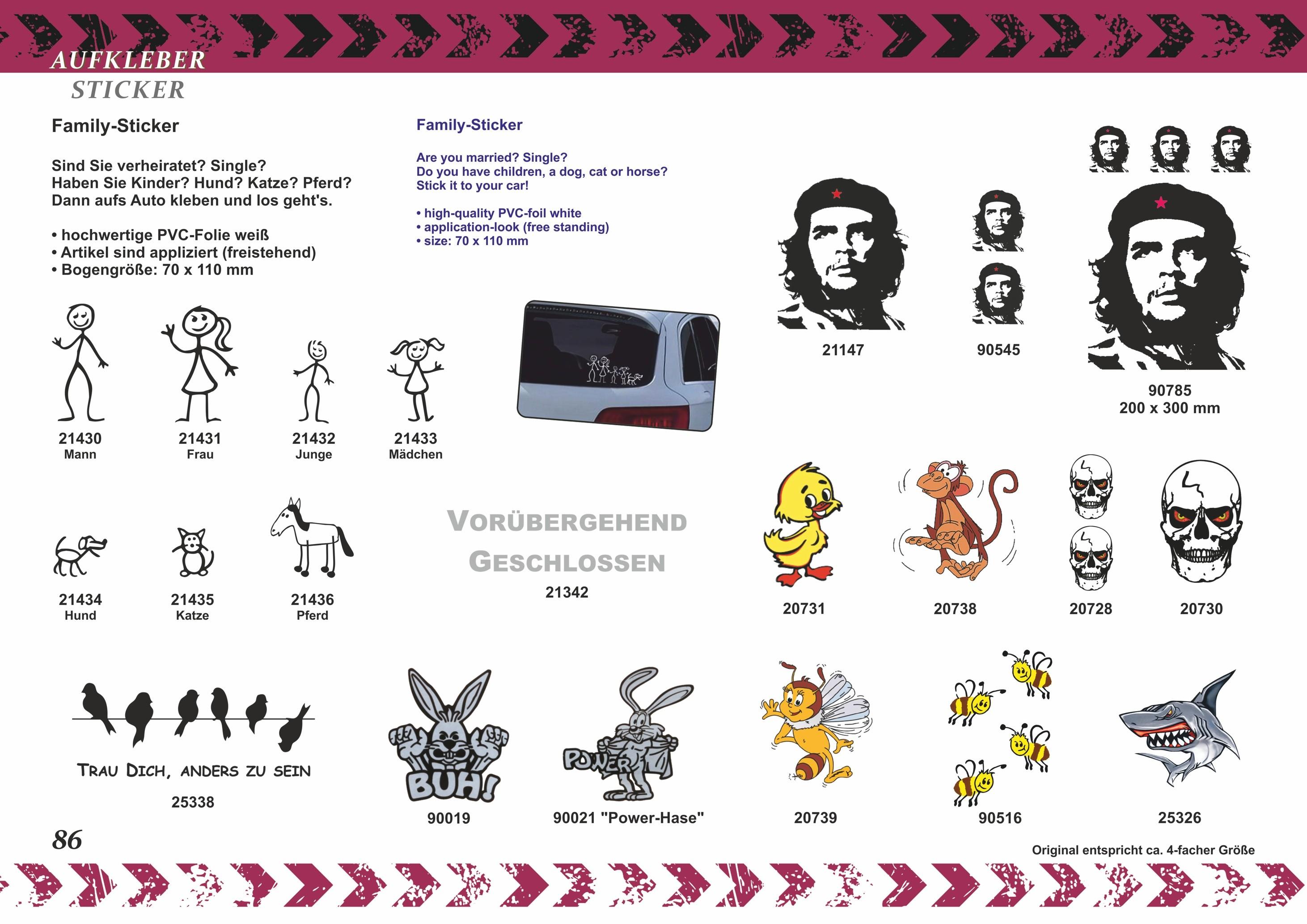 Aufkleber Che Guevara Kontur 2er-Set 145 x 70 mm – Bild 3