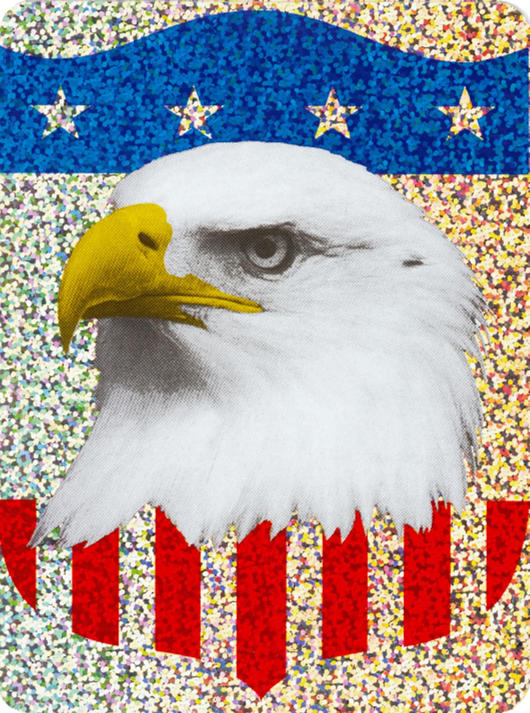 Aufkleber US-Flagge/Adler Holografie 150 x 110 mm – Bild 1